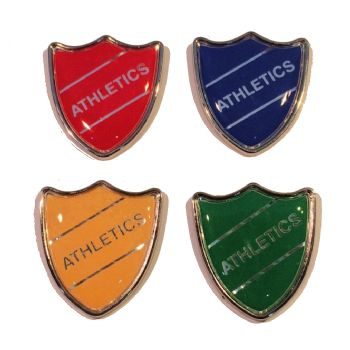 ATHLETICS shield badge